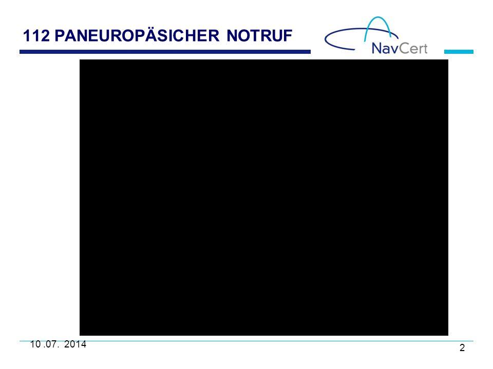 112 PANEUROPÄSICHER NOTRUF 10.07. 2014 2