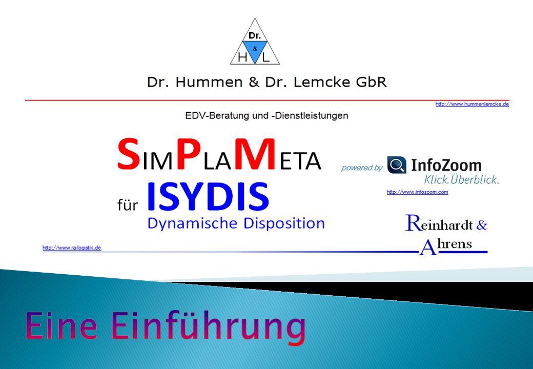  SimPlaMeta für ISYDIS ist eine Logistik-Software zur Optimierung des Lagerbestandes bei benutzerdefinierter Artikel-Lieferfähigkeit.