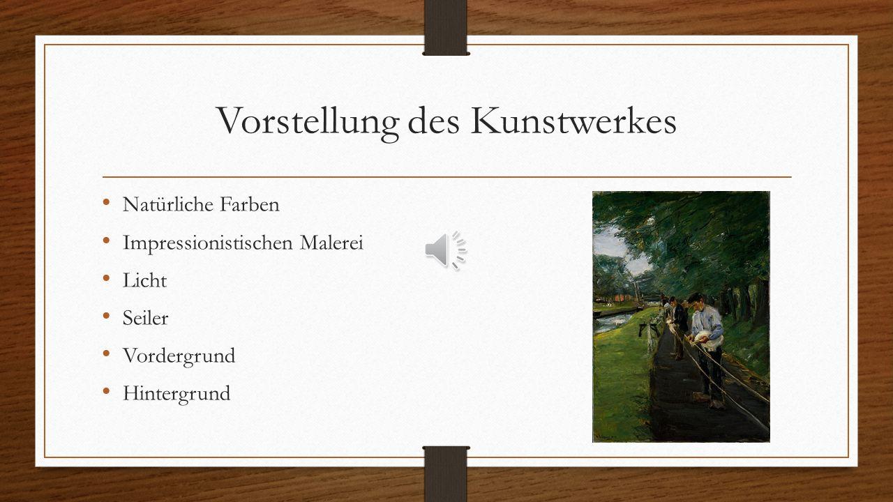 Vorstellung des Künstlers Niederlande Landschaft Seiler Impresionism zu Deutschland Kunst Professor Kunst-Aktivist und Politiker Berliner Secession