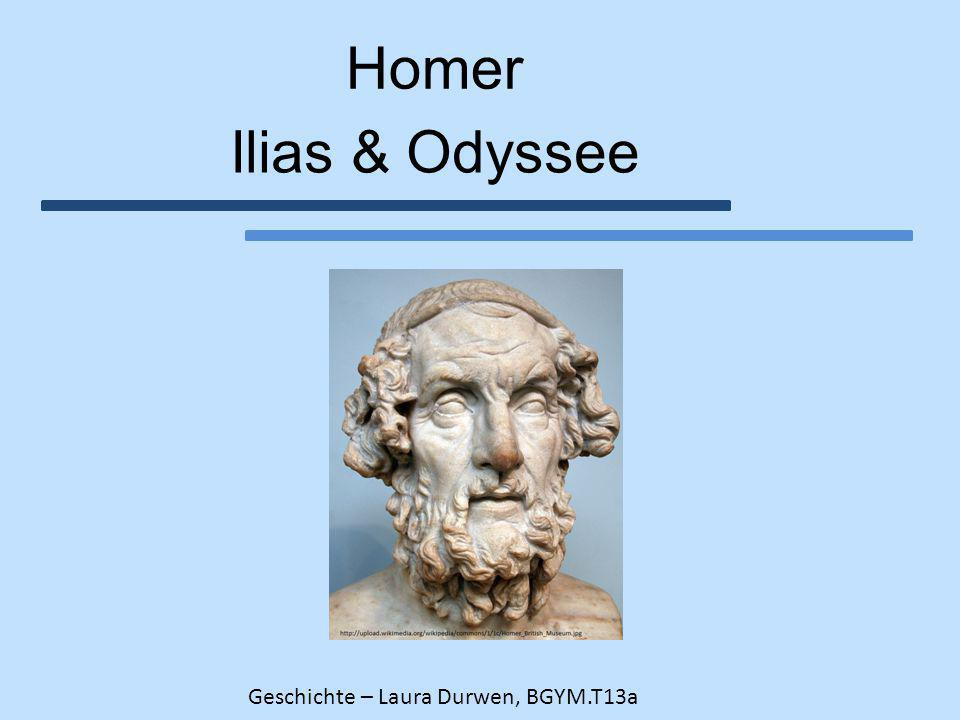 """6. Die """"Homerische Frage 1.War Homer der Verfasser der Epen? 2. Datierung der Epen"""