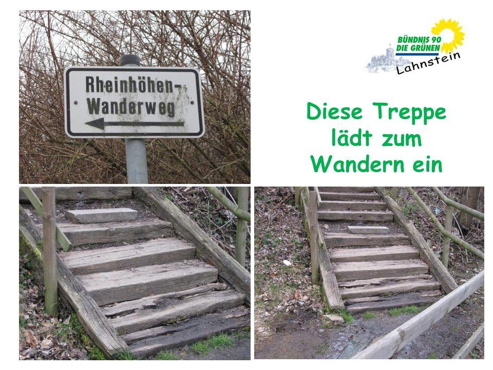 Diese Treppe lädt zum Wandern ein