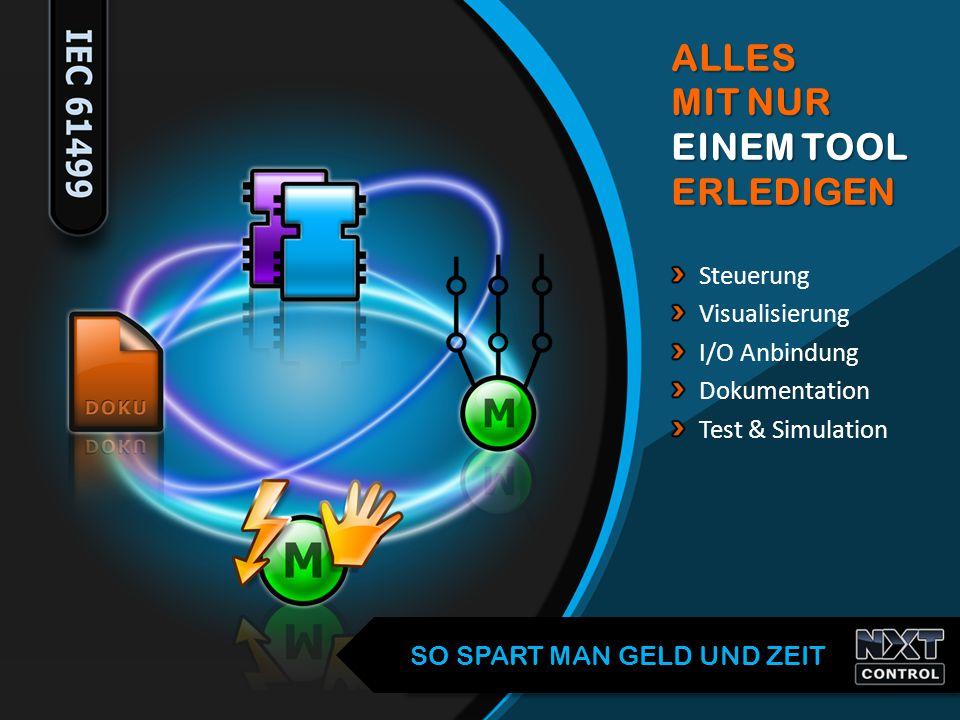 Steuerung Visualisierung I/O Anbindung Dokumentation Test & SimulationALLES MIT NUR EINEM TOOL ERLEDIGEN SO SPART MAN GELD UND ZEIT