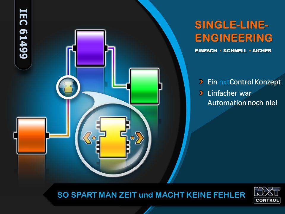 Ein nxtControl Konzept Einfacher war Automation noch nie! SINGLE-LINE- ENGINEERING EINFACH SCHNELL SICHER SO SPART MAN ZEIT und MACHT KEINE FEHLER