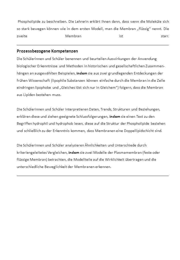 Phospholipide zu beschreiben.
