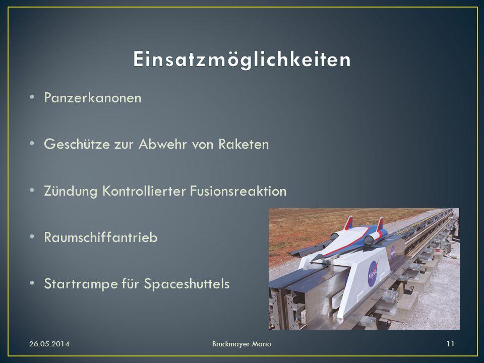 Panzerkanonen Geschütze zur Abwehr von Raketen Zündung Kontrollierter Fusionsreaktion Raumschiffantrieb Startrampe für Spaceshuttels 26.05.2014Bruckmayer Mario11
