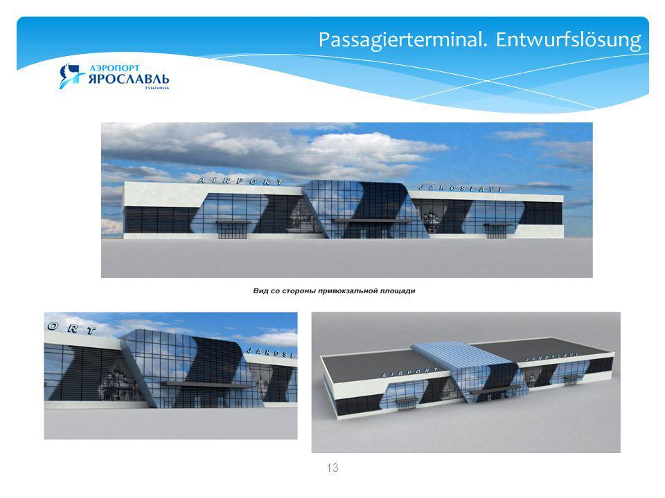 13 Дизайн нового аэровокзала Passagierterminal. Entwurfslösung