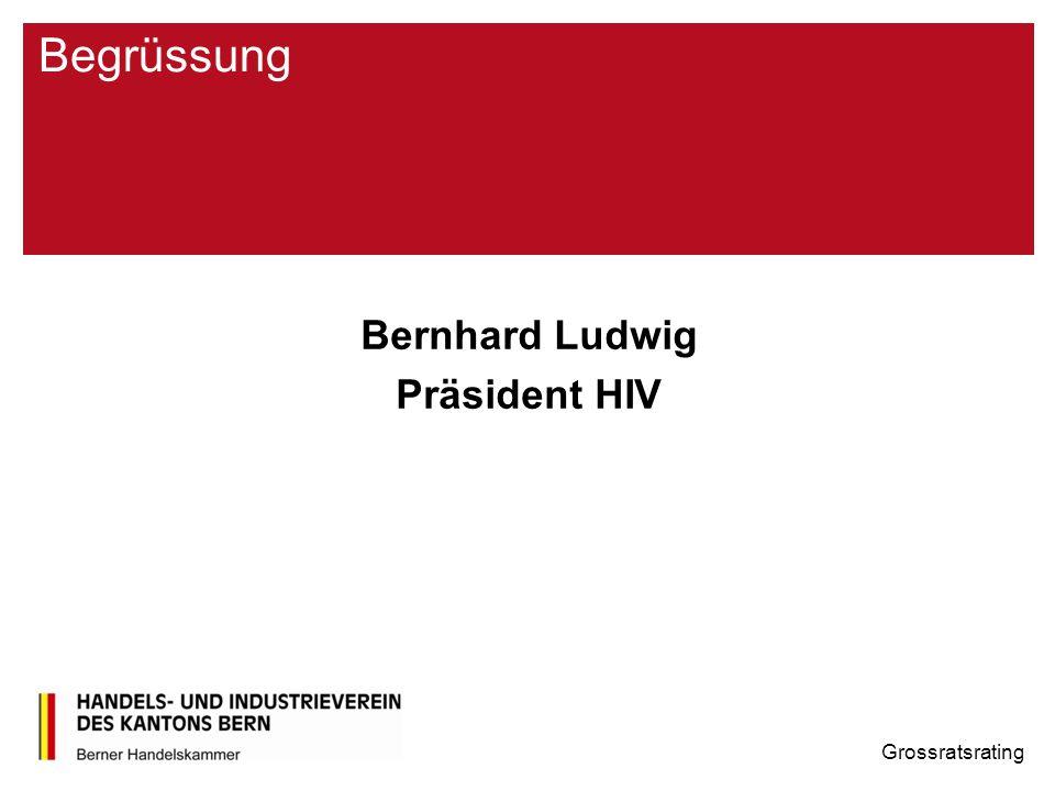 Begrüssung Bernhard Ludwig Präsident HIV Grossratsrating