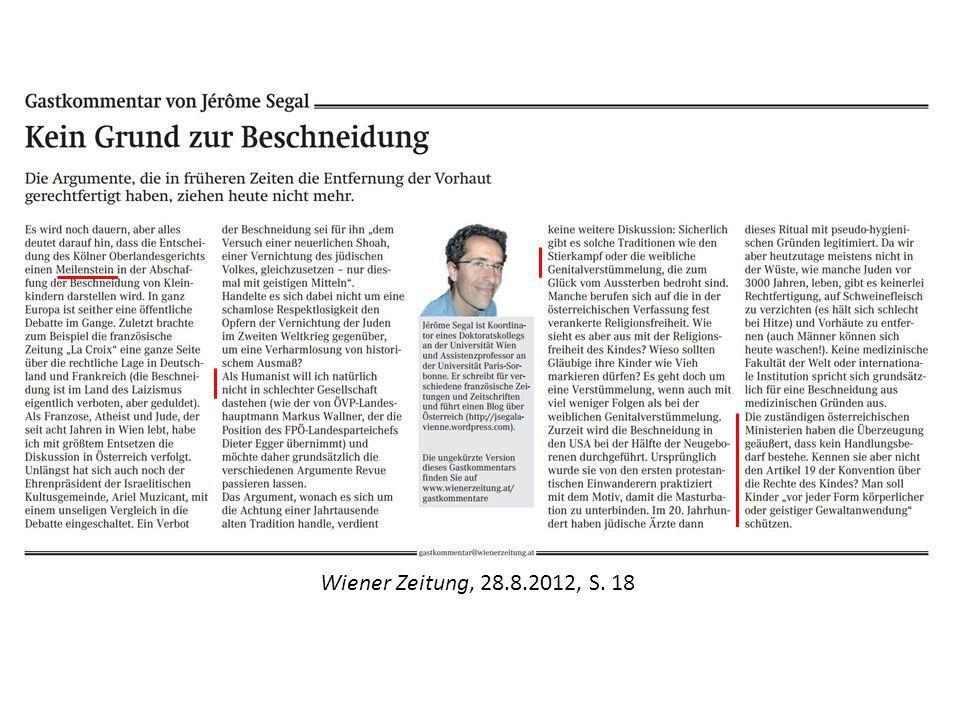 Wiener Zeitung, 28.8.2012, S. 18