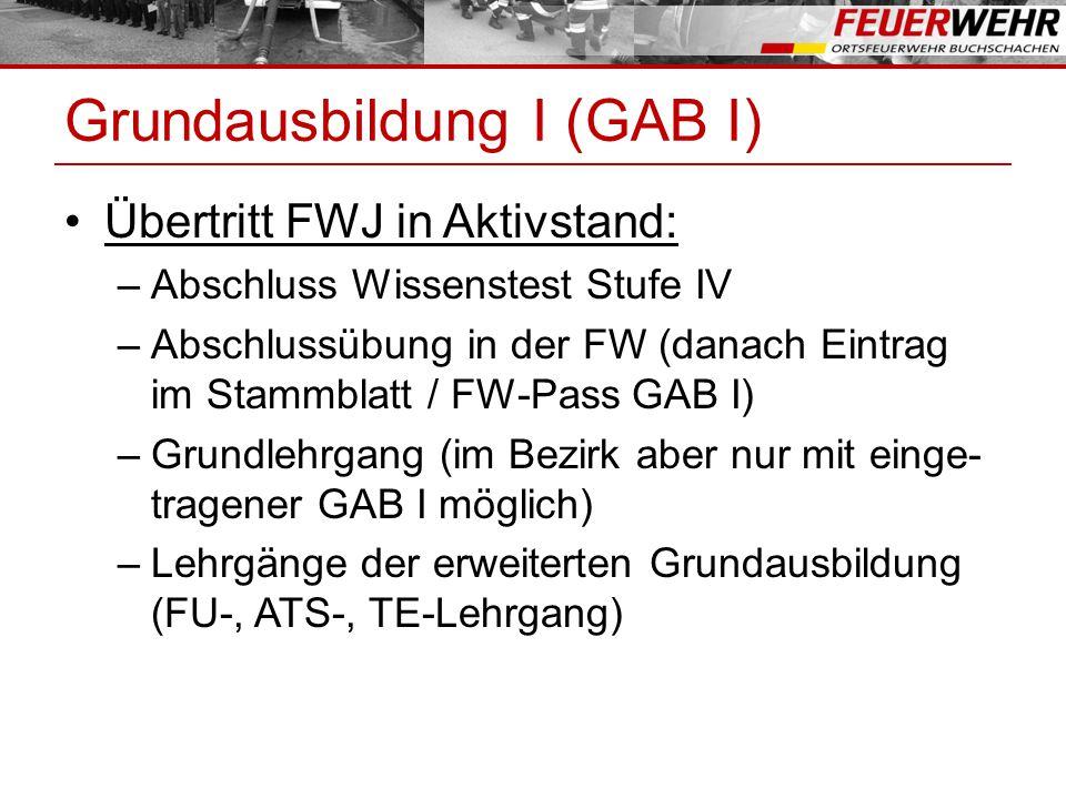 GRUNDAUSBILDUNG AB 2014 Ausbildung und Voraussetzung ab 2014