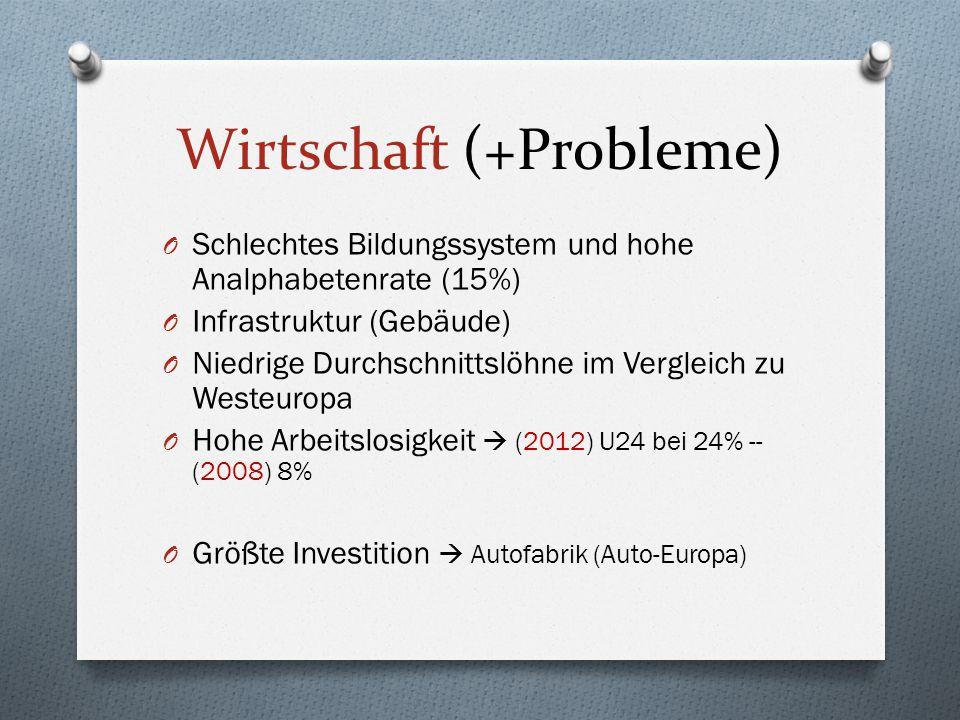Wirtschaft (Außenhandel) O Zu 80% mit EU-Partnern (zB.
