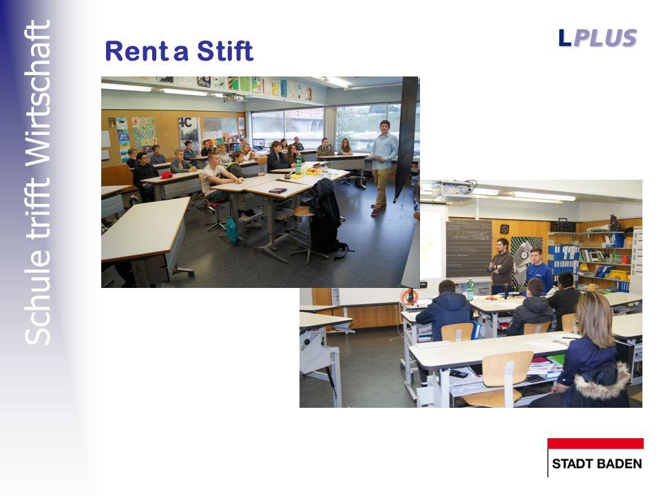 Schule trifft Wirtschaft Rent a Stift / Rent a Boss Der Auszubildende ist durch den «Chef» begleitet (wie in der Lehre wird er auch hier nicht allein gelassen).