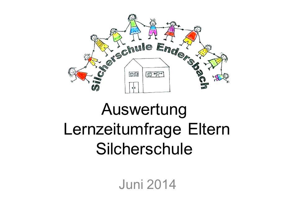 Auswertung Lernzeitumfrage Eltern Silcherschule Juni 2014
