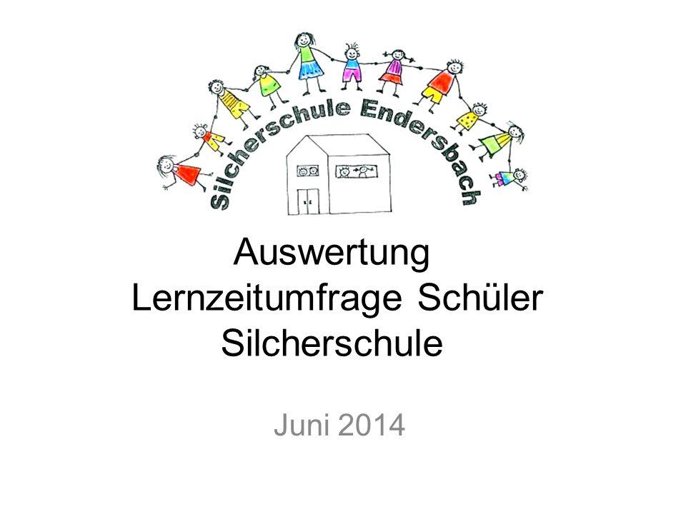 Auswertung Lernzeitumfrage Schüler Silcherschule Juni 2014