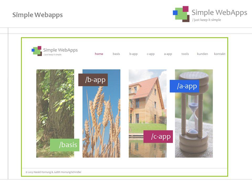 Simple Webapps