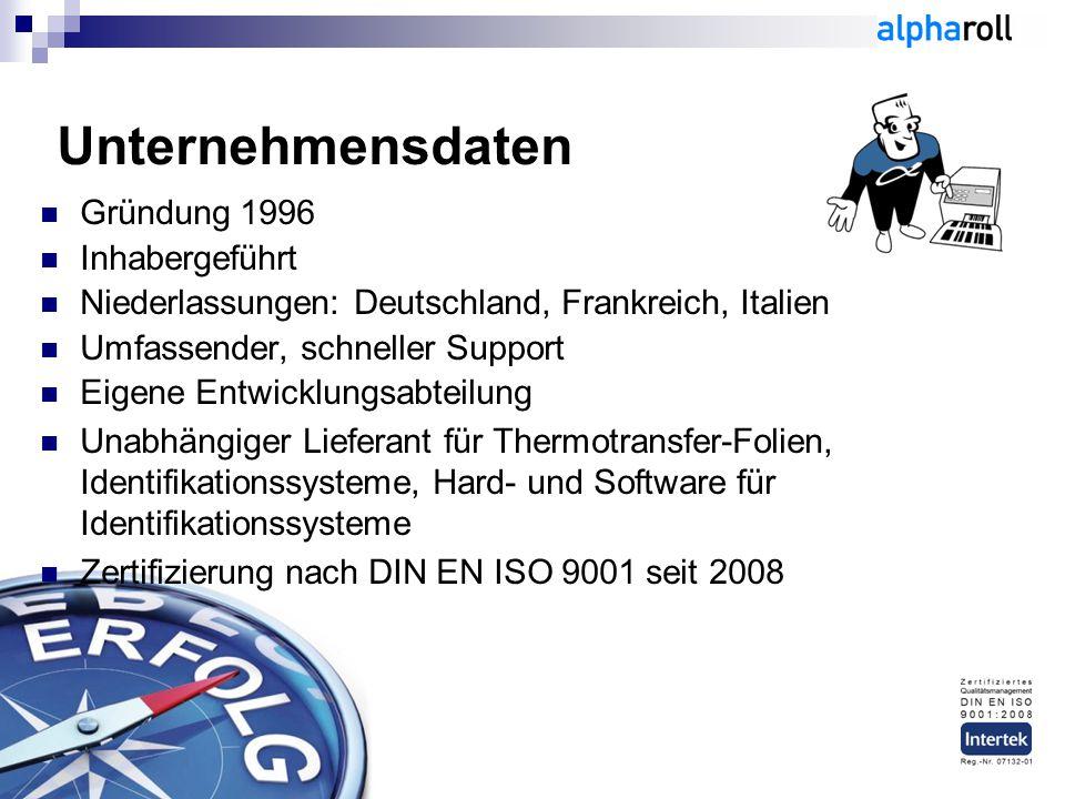Unternehmensdaten Gründung 1996 Inhabergeführt Niederlassungen: Deutschland, Frankreich, Italien Umfassender, schneller Support Eigene Entwicklungsabt