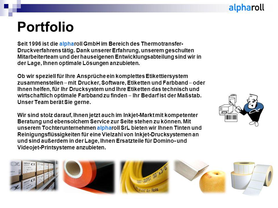 Seit 1996 ist die alpharoll GmbH im Bereich des Thermotransfer- Druckverfahrens tätig.