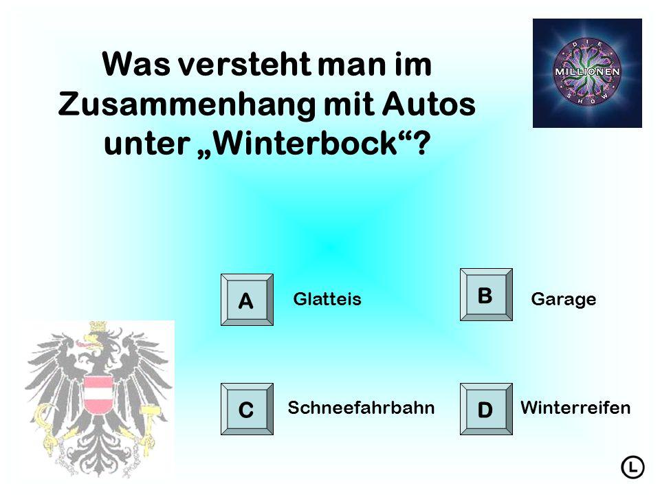 """Was versteht man im Zusammenhang mit Autos unter """"Winterbock ."""