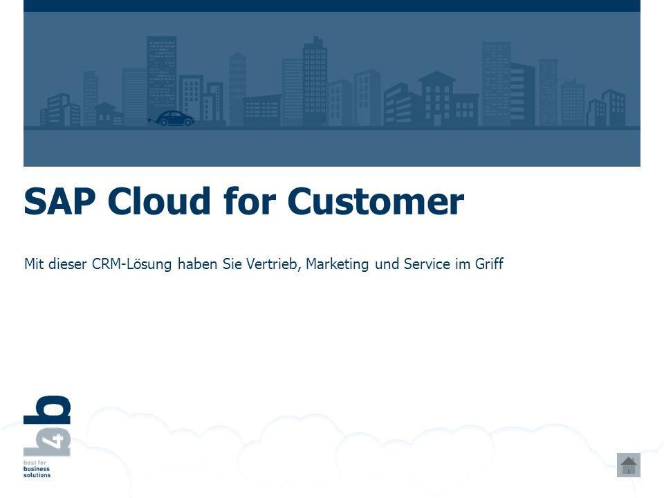 SAP Cloud for Customer Mit dieser CRM-Lösung haben Sie Vertrieb, Marketing und Service im Griff