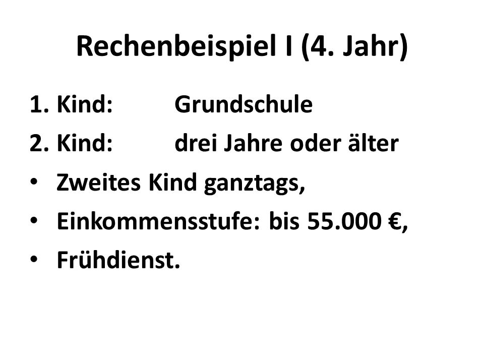 Rechenbeispiel I (4.