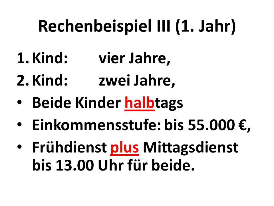 Rechenbeispiel III (1.