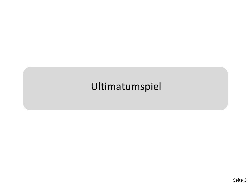 Seite 4 Ultimatumspiel – Teamfindung  Bilden Sie Dreiergruppen.