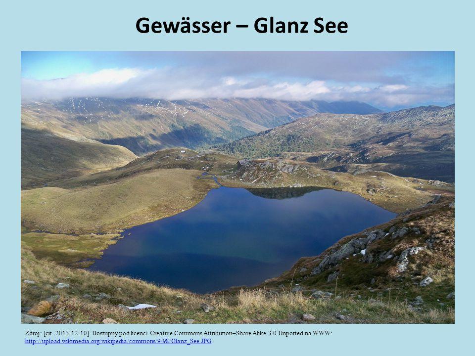 Gewässer – Glanz See Zdroj: [cit. 2013-12-10]. Dostupný pod licencí Creative Commons Attribution–Share Alike 3.0 Unported na WWW: http://upload.wikime