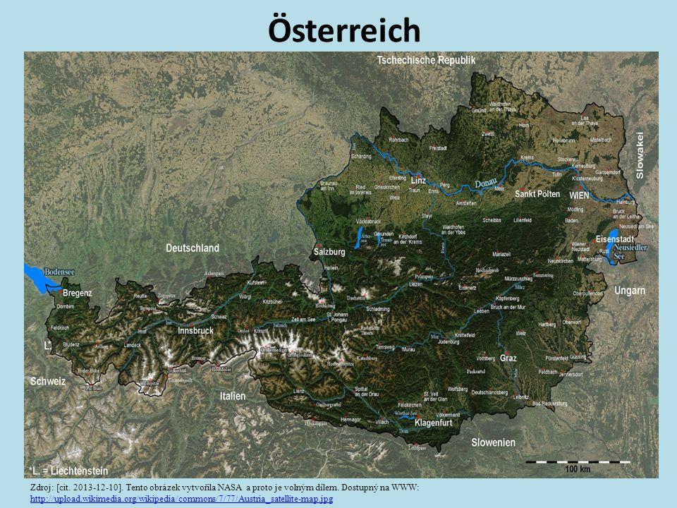 Österreich Zdroj: [cit.2013-12-10]. Tento obrázek vytvořila NASA a proto je volným dílem.