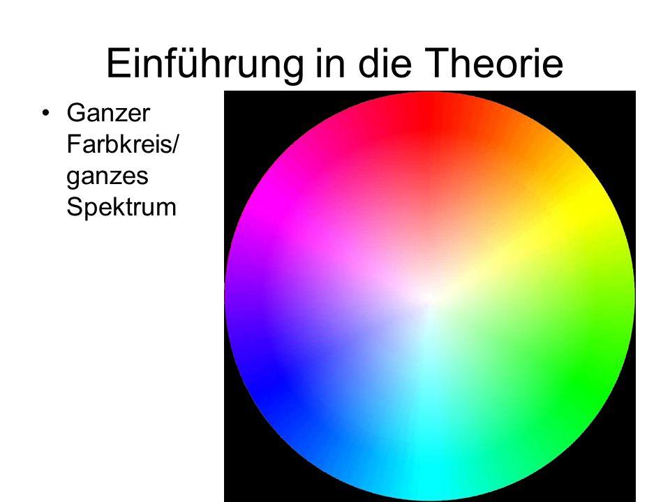 Ganzer Farbkreis/ ganzes Spektrum