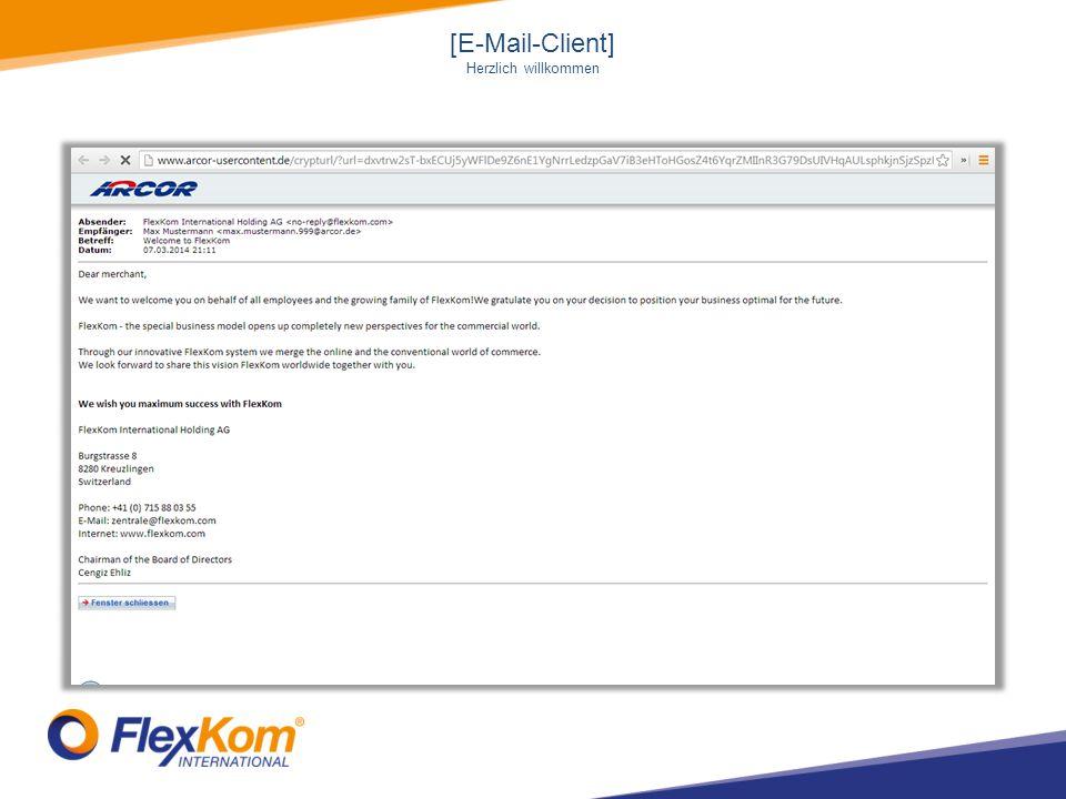 [E-Mail-Client] Herzlich willkommen
