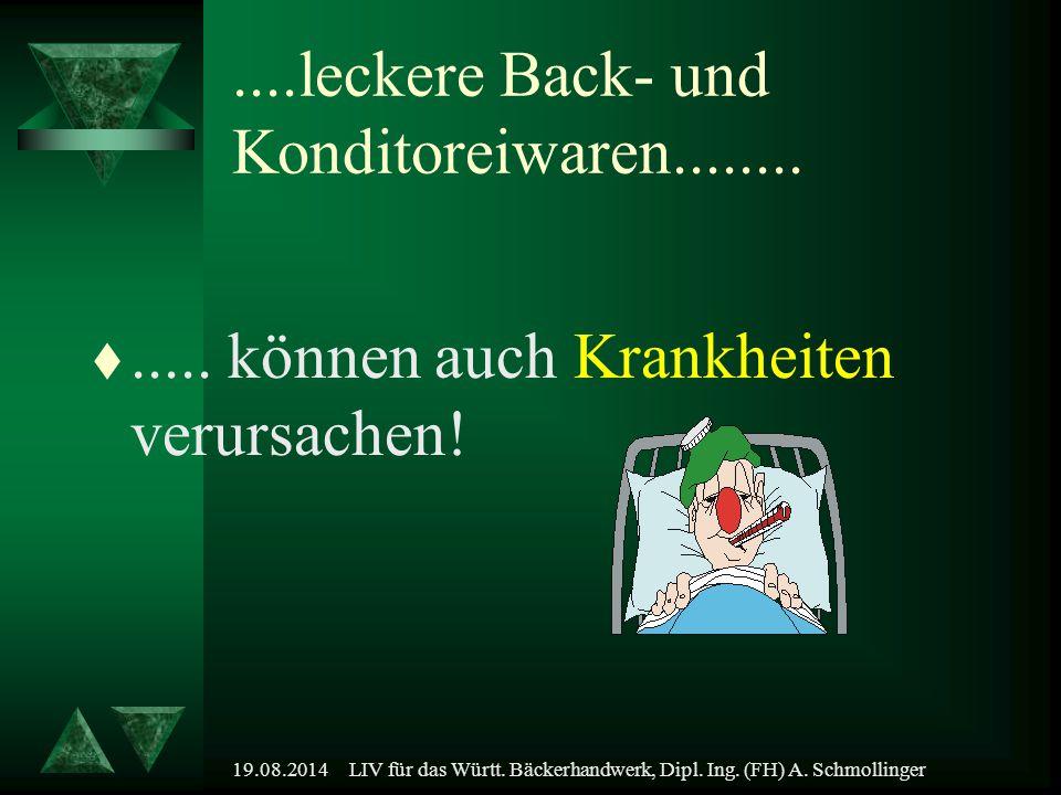 19.08.2014LIV für das Württ. Bäckerhandwerk, Dipl. Ing. (FH) A. Schmollinger....leckere Back- und Konditoreiwaren........ t..... können auch Krankheit