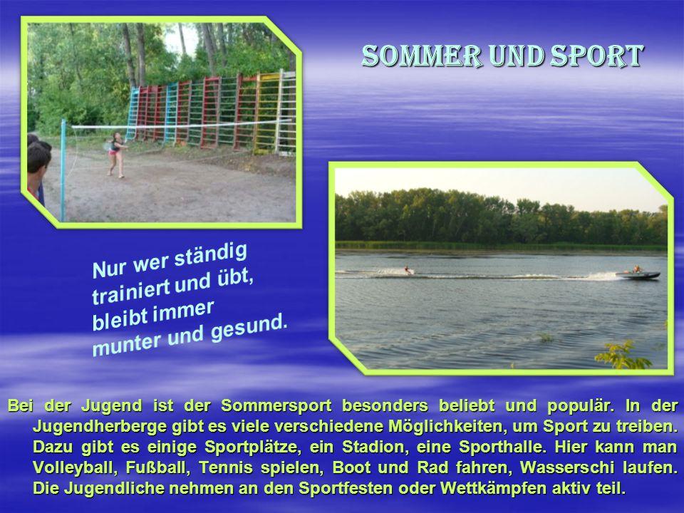 Sonne und Wasser «Sonne und Strand gehören zu einem richtigen Sommer», finden fast alle Jugendliche.
