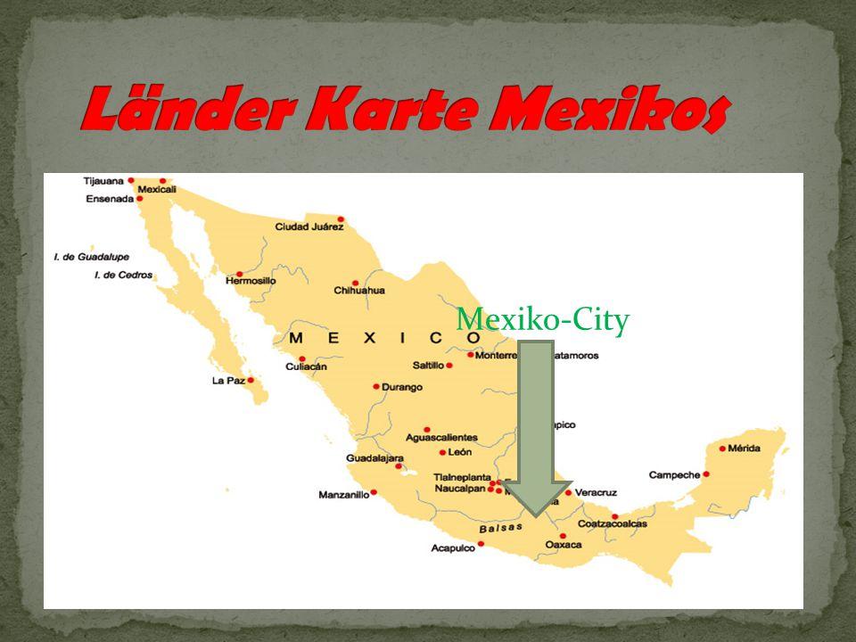 Im Norden grenzt Mexiko an die Vereinigten Staaten von Amerika(USA) an.