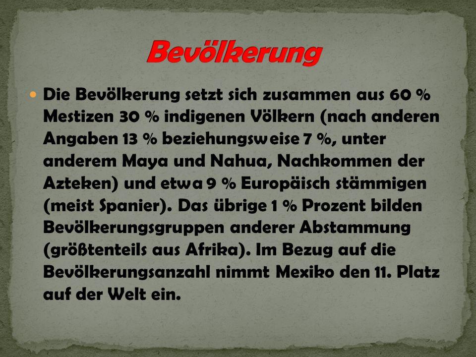 Die Bevölkerung setzt sich zusammen aus 60 % Mestizen 30 % indigenen Völkern (nach anderen Angaben 13 % beziehungsweise 7 %, unter anderem Maya und Na