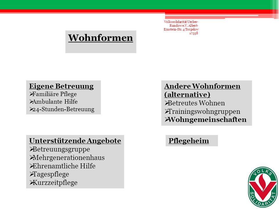 Danke Volkssolidarität Uecker- Randow e.V. Albert- Einstein-Str. 4 Torgelow 17358