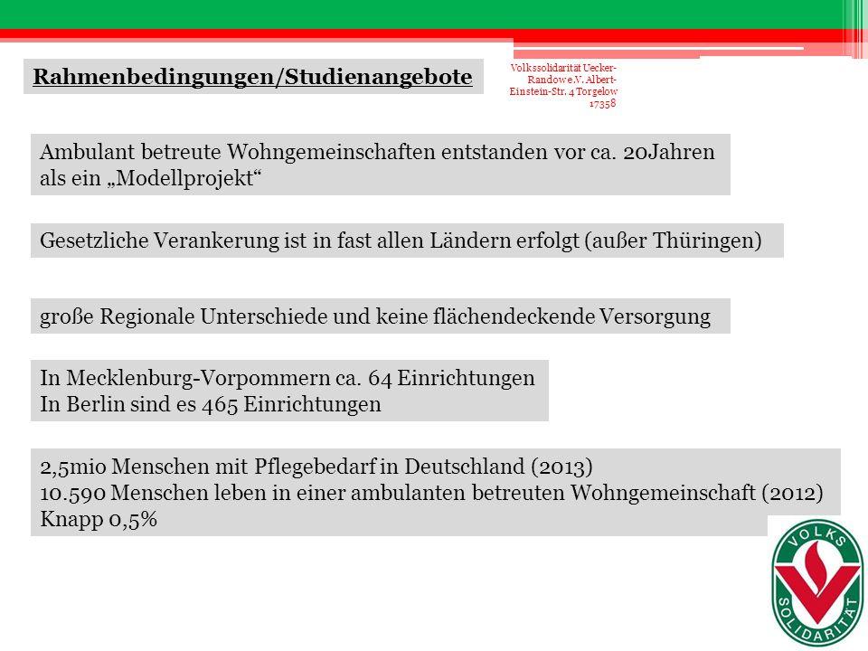 Einrichtungenqualitätsgesetz Mecklenburg-Vorpommern EQG M-V § (5)  pflege- oder betreuungsbedürftige Menschen  gemeinsamer Haushalt  selbst organisiert  externe Pflege- oder Betreuungsleistungen gegen Entgelt gesetzliche Vorschriften Volkssolidarität Uecker- Randow e.V.