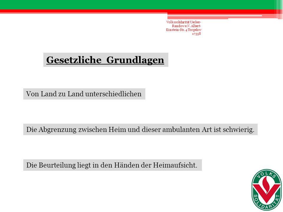 Absender: Volkssolidarität Kreisverband Uecker-Randow e.V.