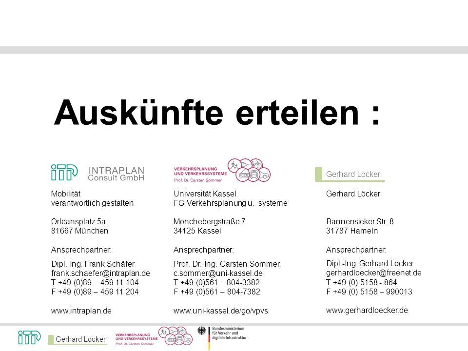 Gerhard Löcker Bannensieker Str. 8 31787 Hameln Ansprechpartner: Dipl.-Ing. Gerhard Löcker gerhardloecker@freenet.de T +49 (0) 5158 - 864 F +49 (0) 51