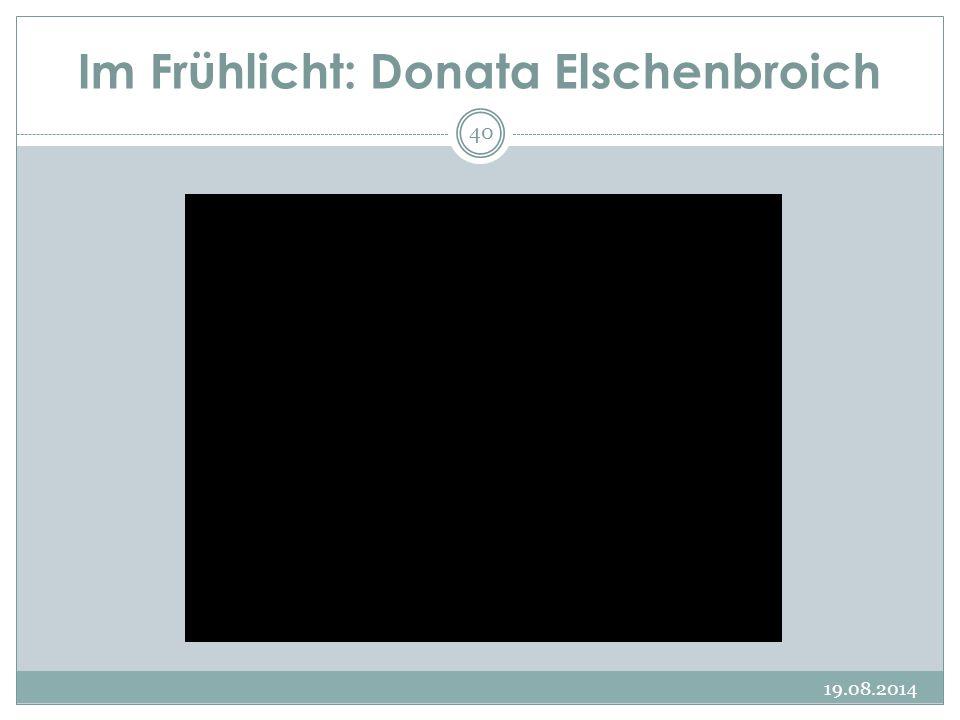 Im Frühlicht: Donata Elschenbroich 19.08.2014 40