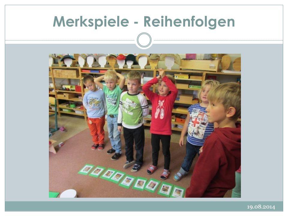 Merkspiele - Reihenfolgen 19.08.2014