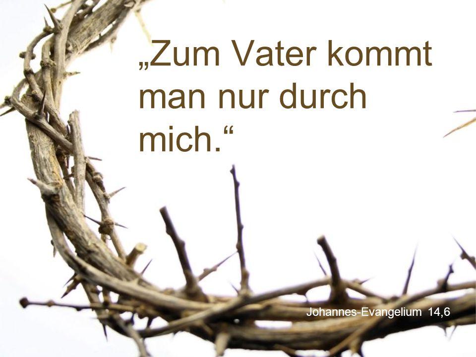 """Johannes-Evangelium 14,6 """"Zum Vater kommt man nur durch mich."""""""