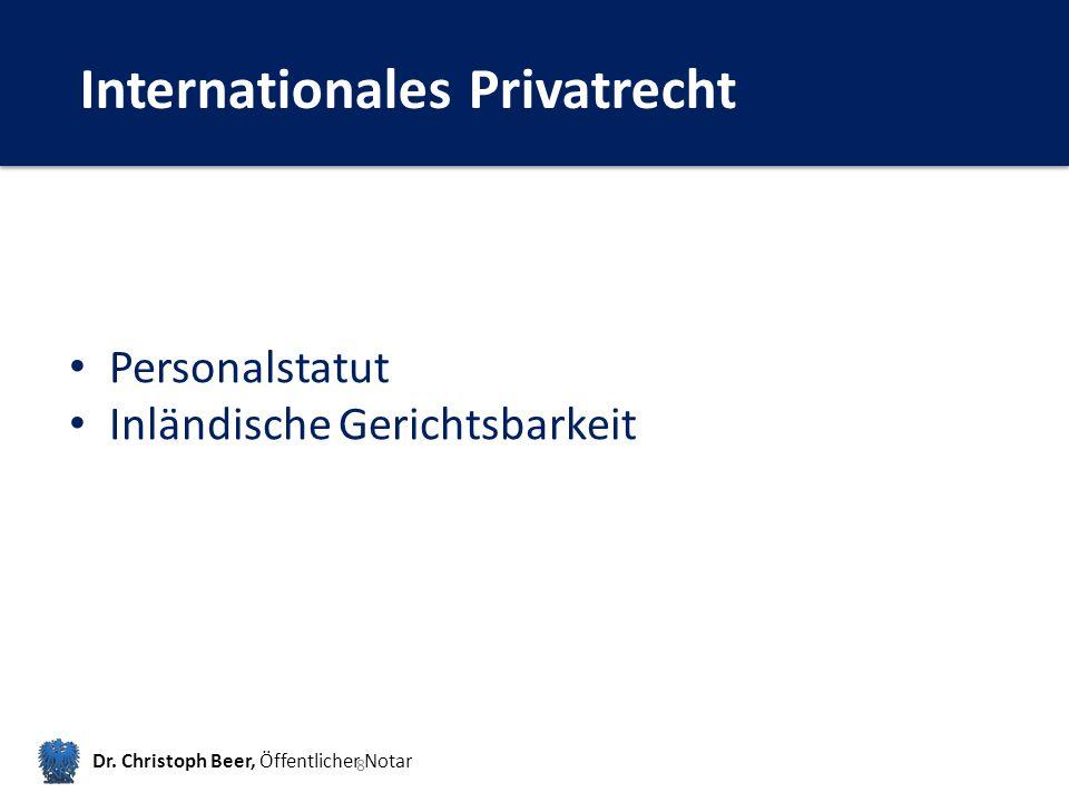 Internationales Privatrecht Dr.