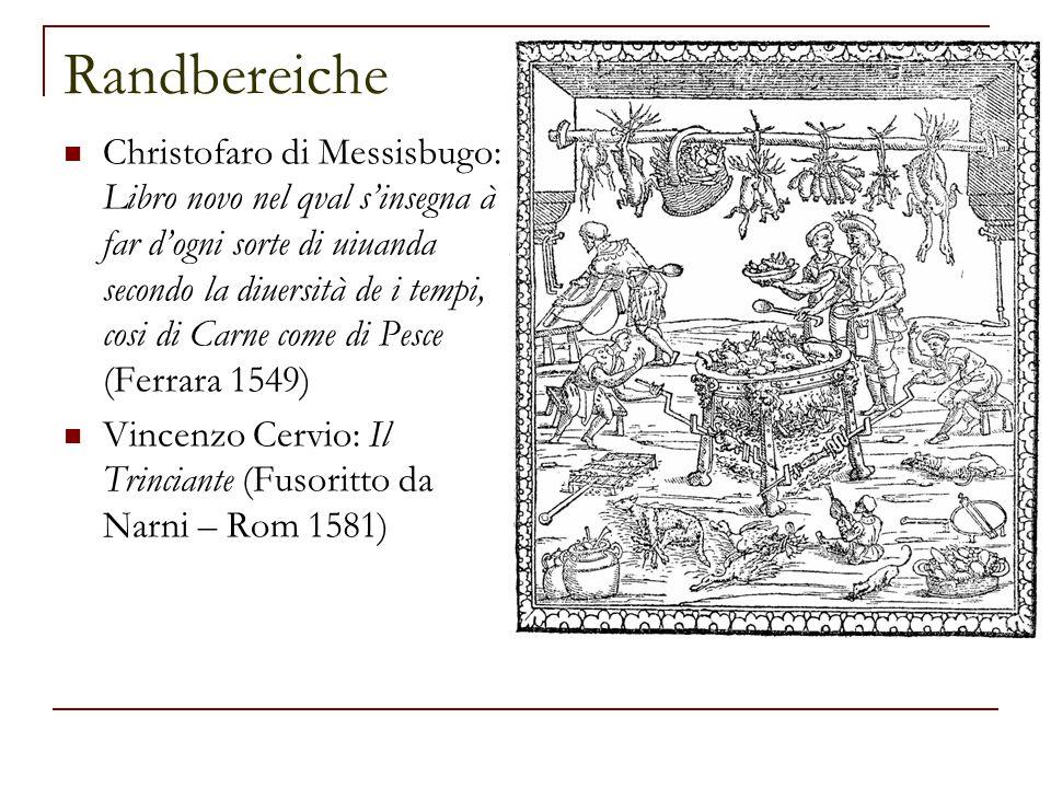 Randbereiche Christofaro di Messisbugo: Libro novo nel qval s'insegna à far d'ogni sorte di uiuanda secondo la diuersità de i tempi, cosi di Carne com