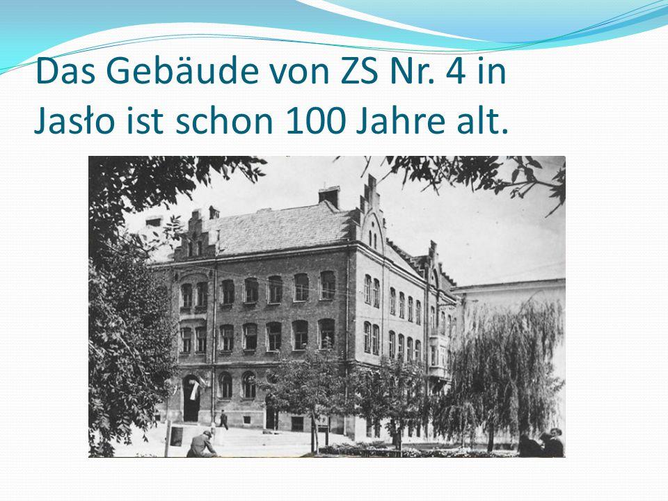 Das Gebäude von ZS Nr. 4 in Jasło ist schon 100 Jahre alt.