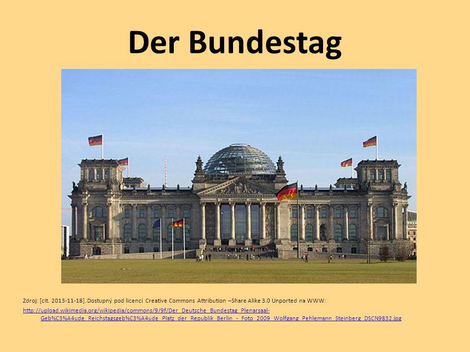 Der Bundestag Zdroj: [cit. 2013-11-18]. Dostupný pod licencí Creative Commons Attribution –Share Alike 3.0 Unported na WWW: http://upload.wikimedia.or