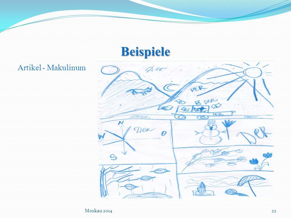 Beispiele Artikel - Makulinum Moskau 201422
