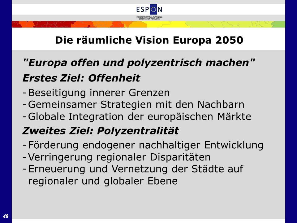 49 Die räumliche Vision Europa 2050