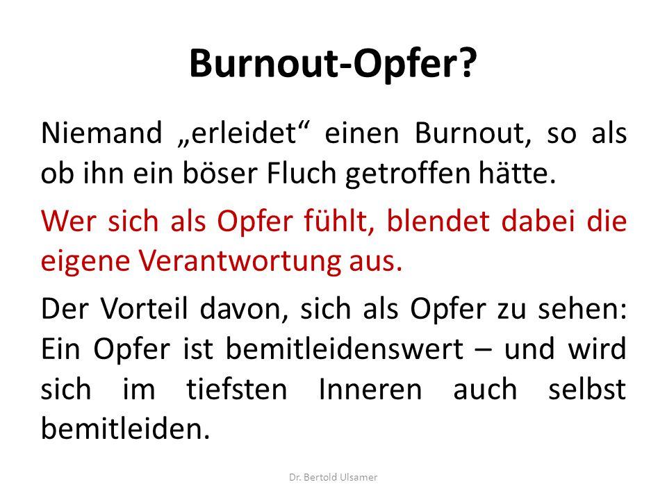 """Burnout-Opfer.Niemand """"erleidet einen Burnout, so als ob ihn ein böser Fluch getroffen hätte."""
