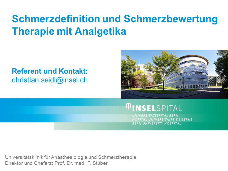 Universitätsklinik für Anästhesiologie und Schmerztherapie, Inselspital, 3010 Bern22 Multimodale Ansätze der modernen Schmerztherapie Bildquelle: www.mein-schmerzportal.de