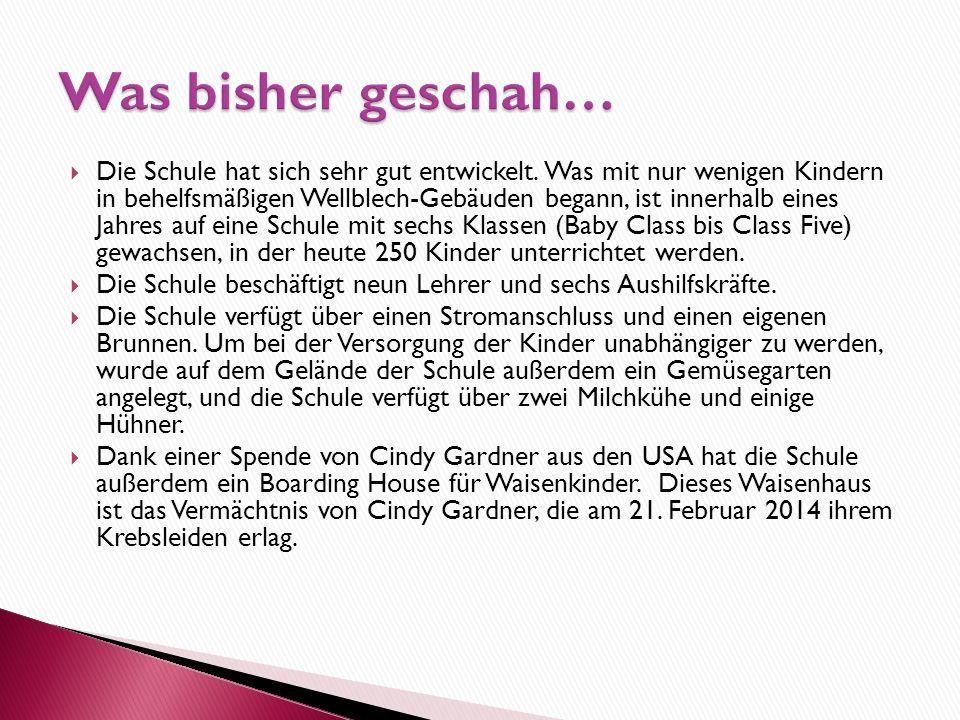  Schulpatenschaft pro Kind 10 Euro/Monat siehe: www.obulala-bukura.de/kinder-daisy-school.html  Patenschaft Waisenhaus/Schule für 35 Euro/Monat  Ei