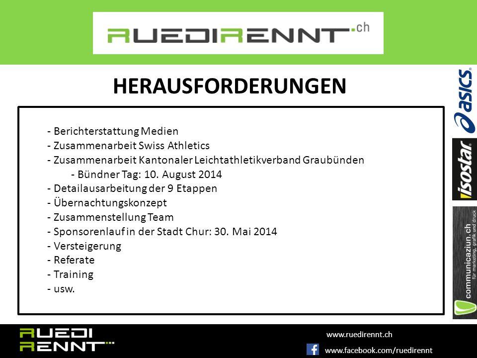 - Berichterstattung Medien - Zusammenarbeit Swiss Athletics - Zusammenarbeit Kantonaler Leichtathletikverband Graubünden - Bündner Tag: 10.